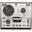 Retro audio tape recorder - Stock Photo