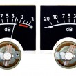 Stock Photo: Analog VU Meter