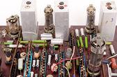 Tarjeta electrónica de radio viejo — Foto de Stock