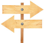 Wooden arrows sign — Stock Photo
