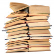 Stack of open books — Stock Photo #23448422