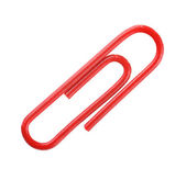 Red paper clip — Stock fotografie