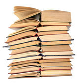Stack of open books — Foto Stock