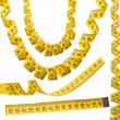 Stock Photo: Set of measuring tapes
