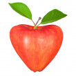 Heart symbol apple — Foto Stock