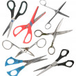 Set of old scissors — Stock Photo