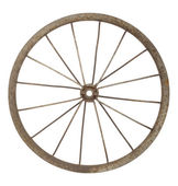 Old bicycle wheel — Stock Photo