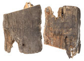Pieces of the old rotten wooden planks — Stock Photo