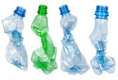 Used plastic bottles — Foto de Stock