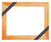 Wooden funeral frame — Stock Photo