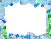 Frame of used plastic bottles — Stock Photo