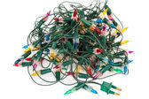 Old Christmas lights  — Stock Photo