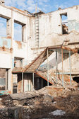 Demolition of old buildings — Stock Photo