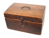 Old wooden chest — Stok fotoğraf