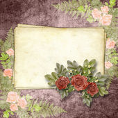 �ards for greeting or invitation on the vintage background. — Foto Stock