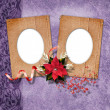 Romantics vignettes with christmas composition in scrapbooking s — Stock Photo #8102470