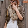 Interested hipster girl — Stock Photo