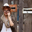 Stock Photo: Suprised hipster girl