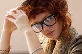 Portrait d'une fille de hipster — Photo
