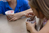 Little children eating ice-cream — Stock Photo