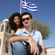 Couple do sightseeing in Athens - Stock Photo