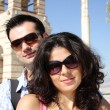 Couple do sightseeing in Athens — Stock Photo #17163923