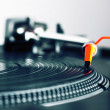 Turntable playing vinyl record — Stock Photo #18025839