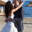 Young couple dancing the wedding dance — Stock Photo #24559963