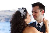 Couple dancing the wedding dance — Stock Photo