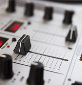 Professional sound mixing controller — Stock Photo