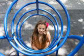 Little girl posing on the playground — Stock Photo