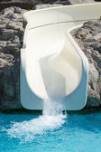 Emprty slide in aquapark — Stock Photo