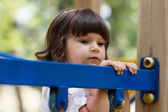 Cute small girl on the playground — Stock Photo