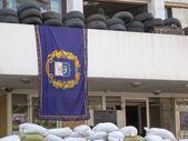 баррикады в мариуполь, украина — Стоковое фото