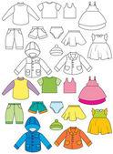 комплект одежды — Cтоковый вектор