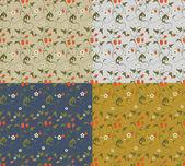 Bezešvé vzory s jahodami — Stock vektor