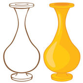 Vase. Color and contour illustration — Stok Vektör