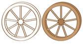 Die wagon wheel — Stockvektor