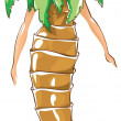 Stock Vector: Carnival costumes - palm tree