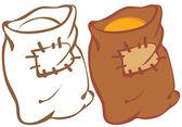 穀物袋 — ストックベクタ