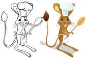 跳鼠厨师 — 图库矢量图片