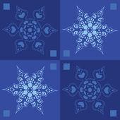 Fondo de invierno los copos de nieve sin costuras — Vector de stock