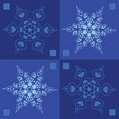 Seamless snowflakes winter background — Stock Vector