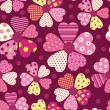 Heart flower pattern - Stok Vektr