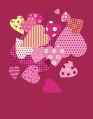 καρδιές φόντο — Διανυσματικό Αρχείο