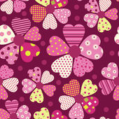 Heart flower pattern — Vector de stock