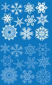 Blauwe reeks sneeuwvlokken — Stockvector
