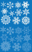 Blue set of snowflakes — Stock Vector