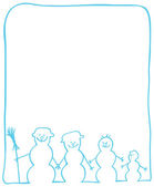 Snowmans 圣诞卡片 — 图库矢量图片