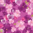 Violet valentine background — Stockvectorbeeld